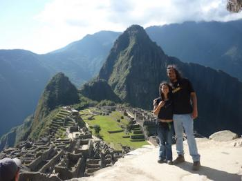 Erik and Nilda at Machu Picchu