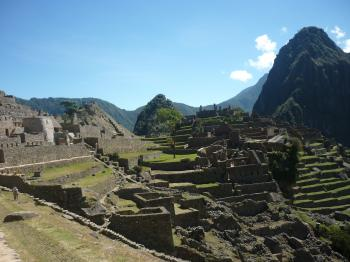Inka temple Machu Picchu